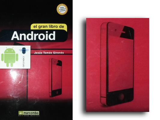 Gazapo, un iphone en la portada de un libro de Android